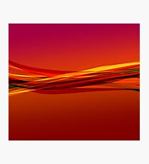 Flame Red Photographic Print