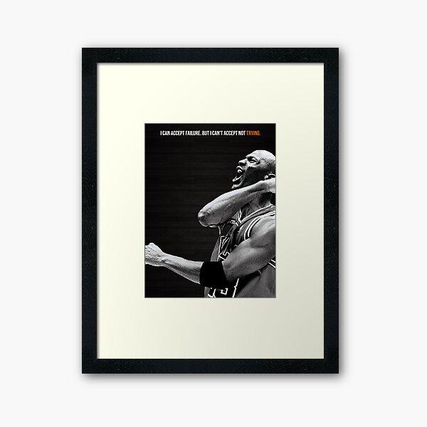 Affiche de motivation Michael Jordan Impression encadrée