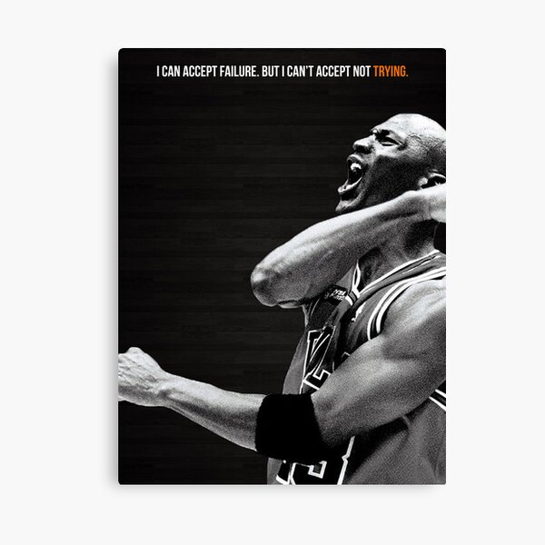 Michael Jordan Motivation Poster Canvas Print