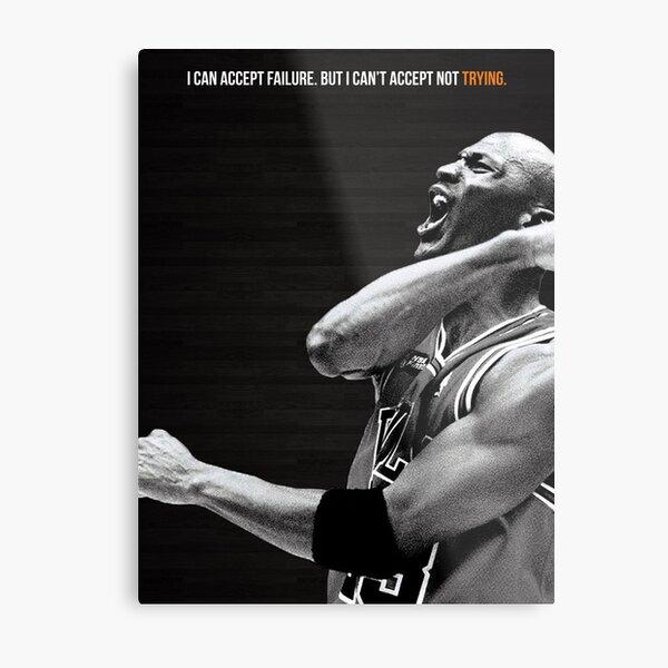 Michael Jordan Motivation Poster Metal Print