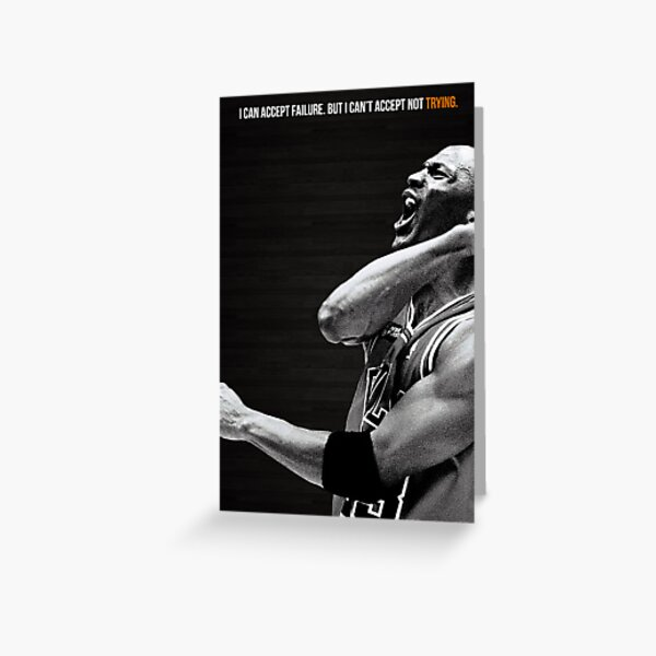 Michael Jordan Motivation Poster Greeting Card