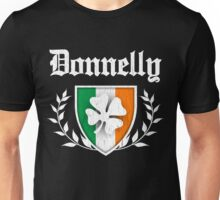 Donnelly Family Shamrock Crest (vintage distressed) Unisex T-Shirt