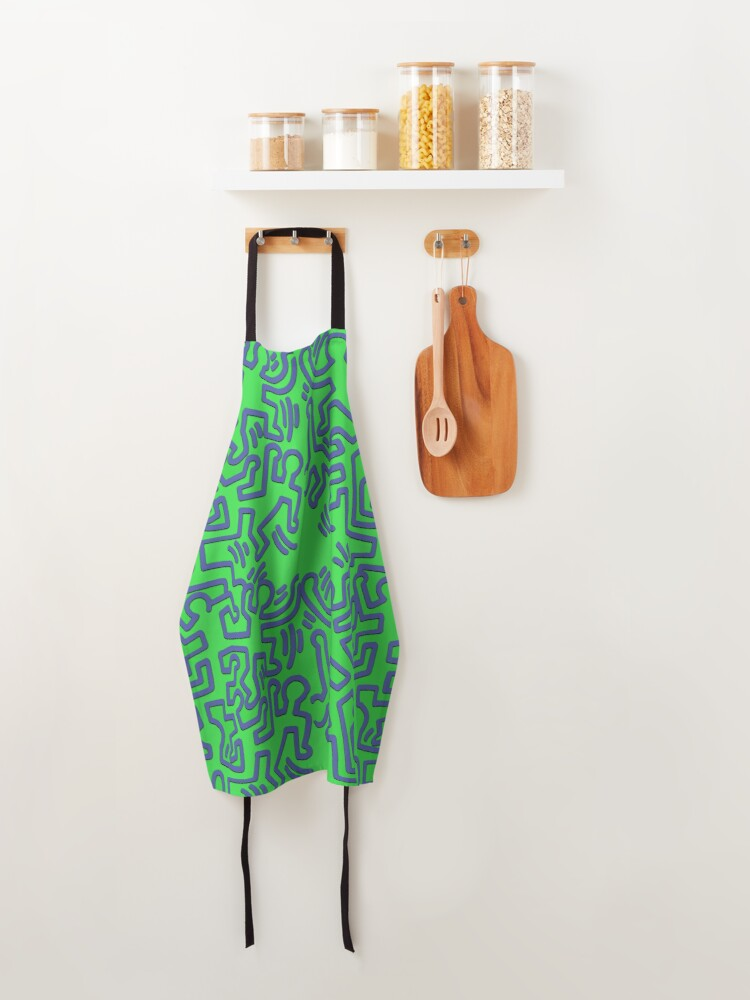 Alternate view of pattern Keith haring  Apron