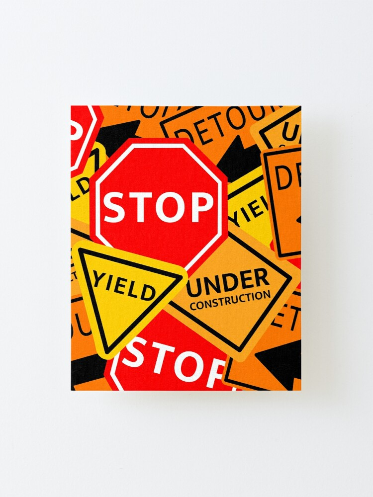 Alternate view of Sign Medley Mounted Print