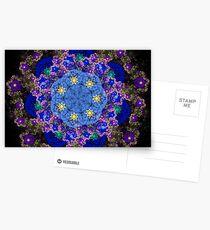 Blue Flowers Postkarten