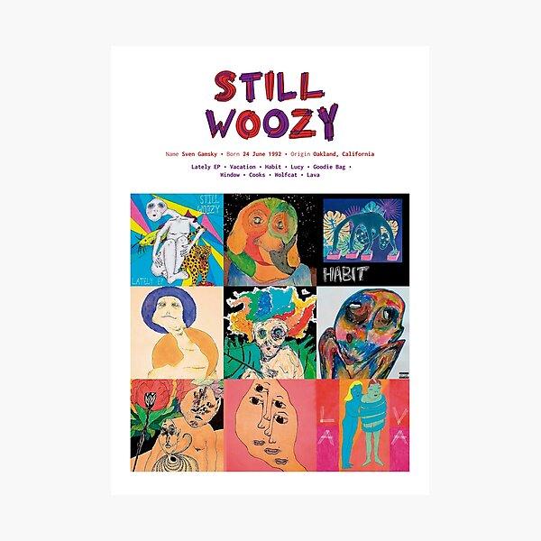 Carátulas de álbumes de música Still Woozy Lámina fotográfica