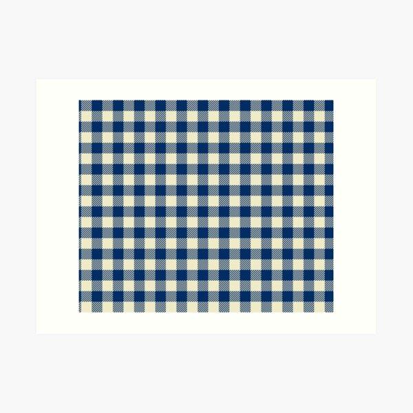 Plaids • Blue and White Art Print