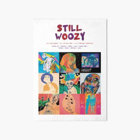 Still Woozy Music Album Covers Art Board Print