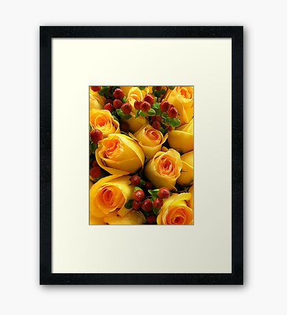 Peachy Perfect! Framed Print