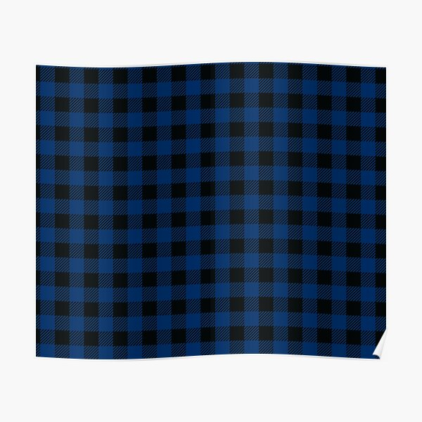 Plaids • Blue and Black Poster