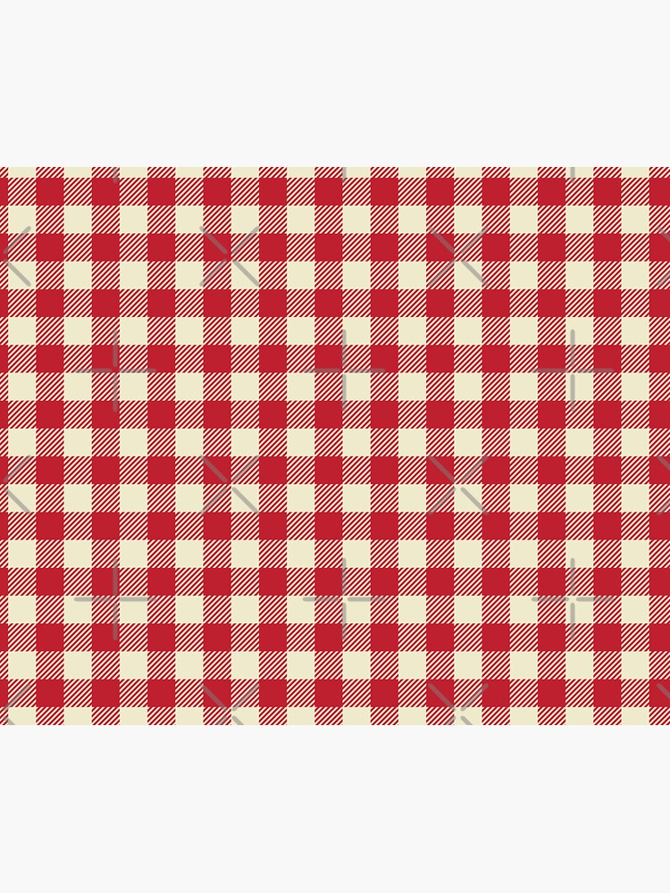 Plaids • Red and White by brainthought