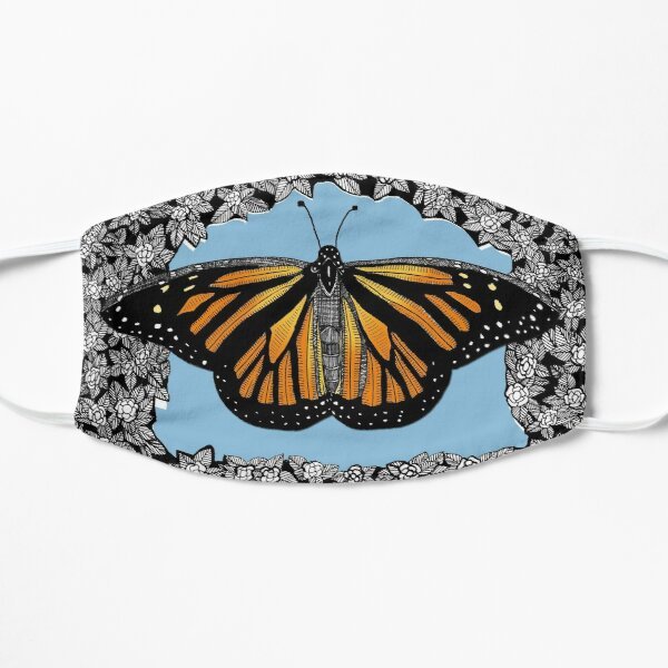 Monarch Butterfly / Floral Background Mask