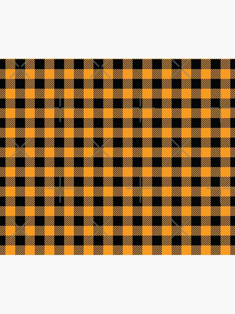 Plaids • Orange and Black by brainthought