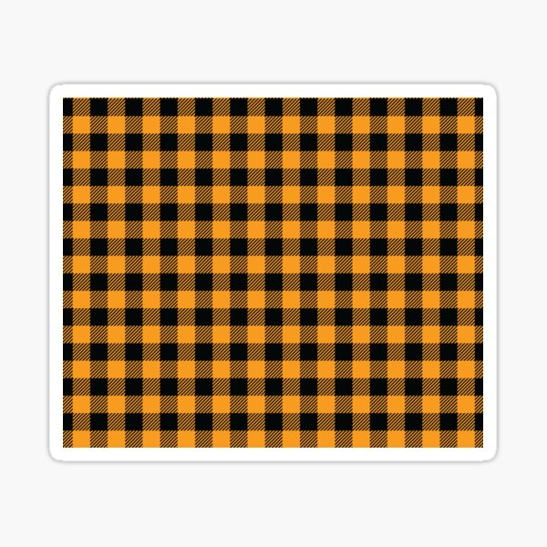 Plaids • Orange and Black Sticker