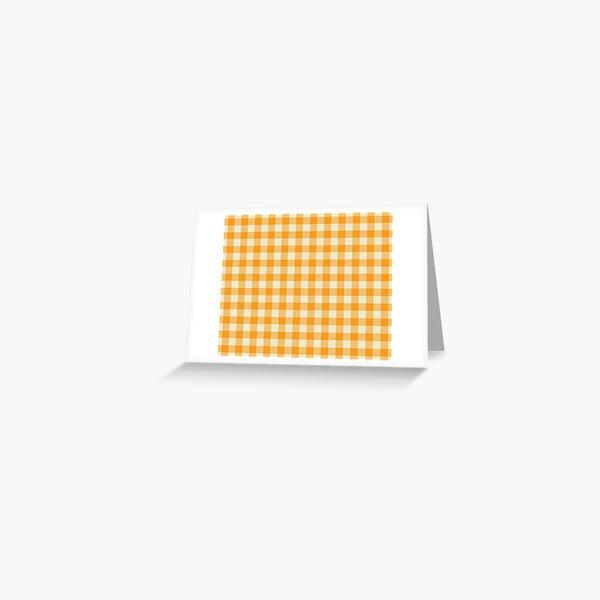 Plaids • Orange and White Greeting Card