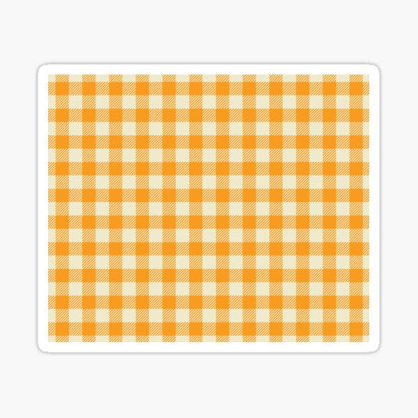 Plaids • Orange and White Sticker