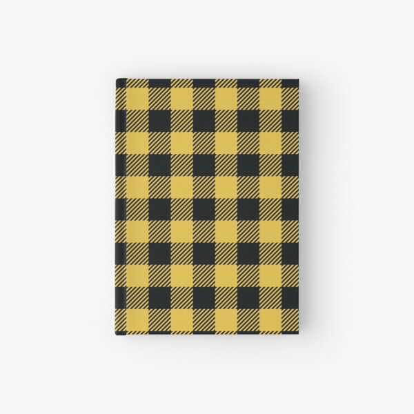 Plaids • Yellow and Black Hardcover Journal