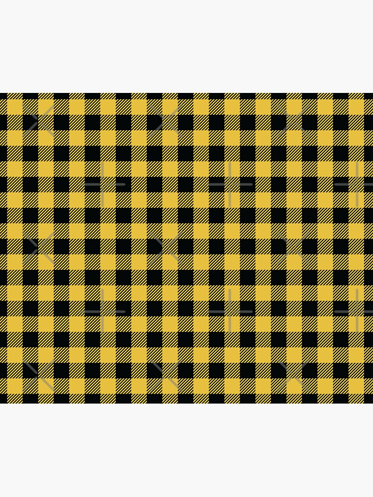 Plaids • Yellow and Black by brainthought