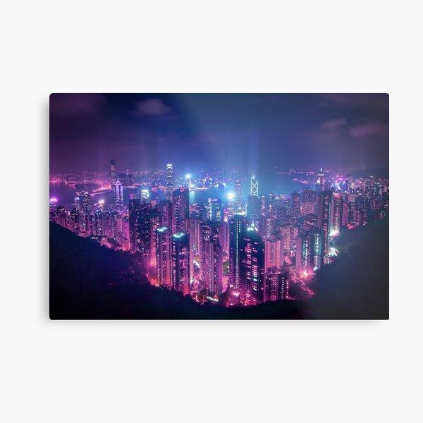 Hong Kong Neo Future Metal Print