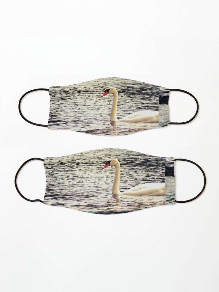 Alternate view of Swan, Swan sticker, Swan magnet, Swan socks Mask