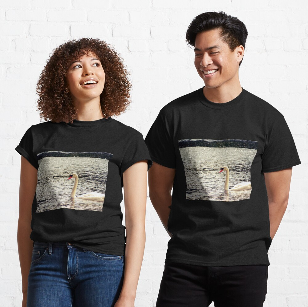 Swan, Swan sticker, Swan magnet, Swan socks Classic T-Shirt