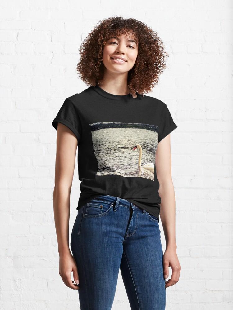 Alternate view of Swan, Swan sticker, Swan magnet, Swan socks Classic T-Shirt