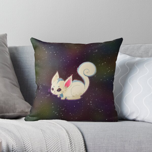 Spaced Out Scrouse in White Throw Pillow