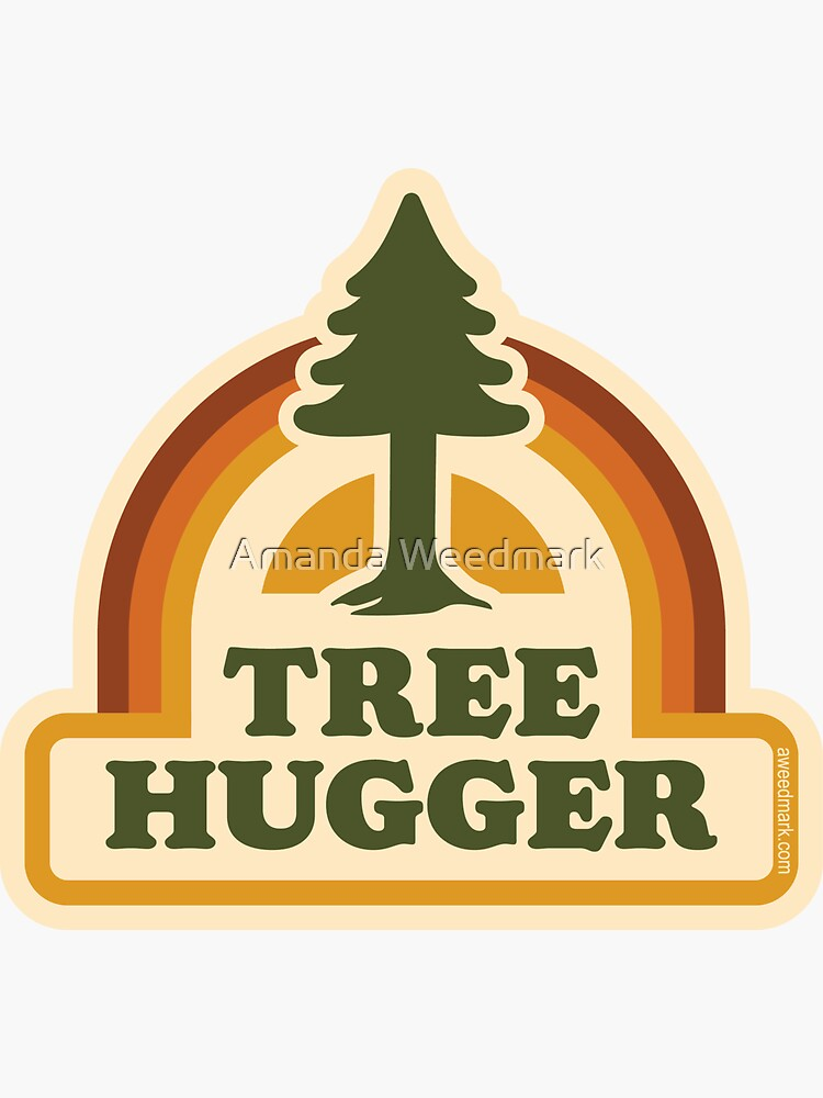Retro Tree Hugger by amandaweedmark
