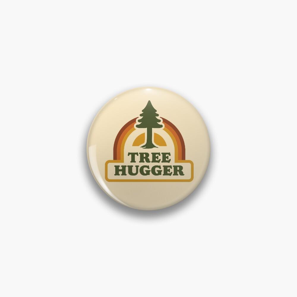 Retro Tree Hugger Pin