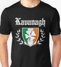 Kavanagh Family Shamrock Crest (vintage distressed) T-Shirt