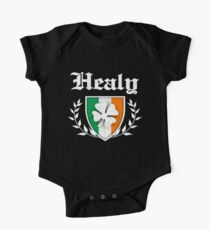 Healy Family Shamrock Crest (vintage distressed) Kids Clothes