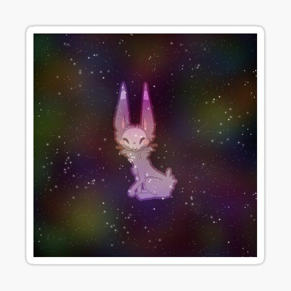 Cutie Skullcat in Space Sticker
