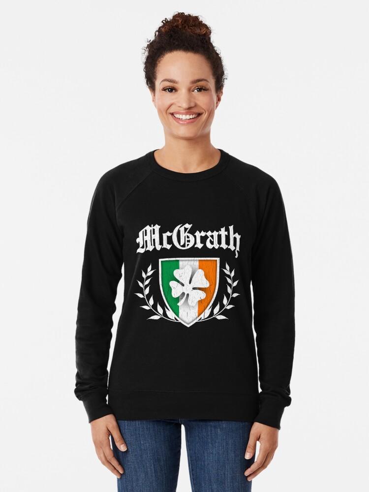 Alternative Ansicht von McGrath Family Shamrock Crest (vintage distressed) Leichter Pullover