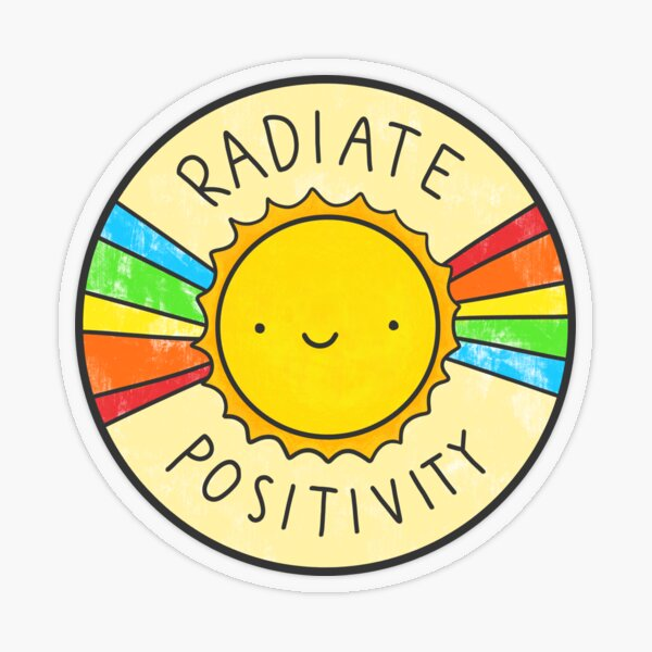 Radiate Positivity Transparent Sticker