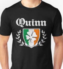 Quinn Family Shamrock Crest (vintage distressed) T-Shirt
