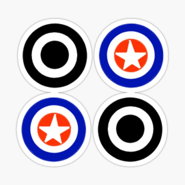 Star & Zero logo stickers Sticker