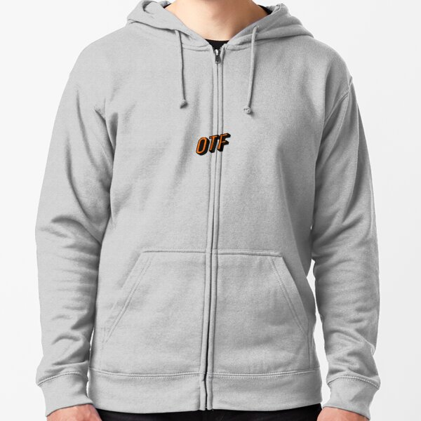 OrangeTheory OTF Orange and Black Zipped Hoodie