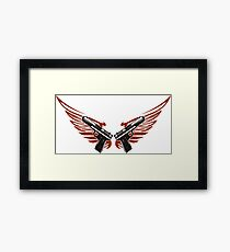 Guns with wings Framed Print