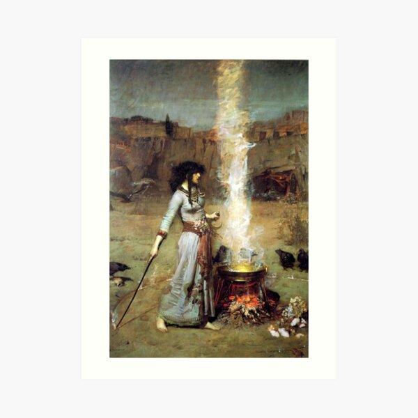 The Magic Circle - John William Waterhouse Art Print