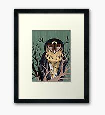 Wooden Owl Framed Print
