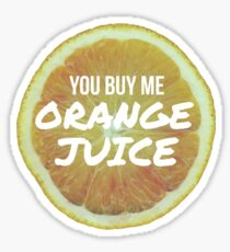 Orange Juice - 400 Lux - Lorde Sticker