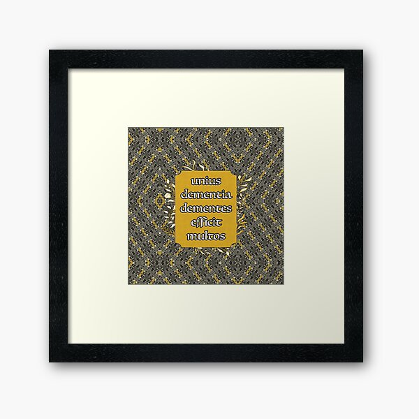 unius dementia Framed Art Print