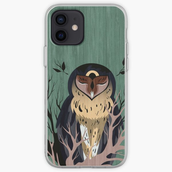 Wooden Owl iPhone Soft Case
