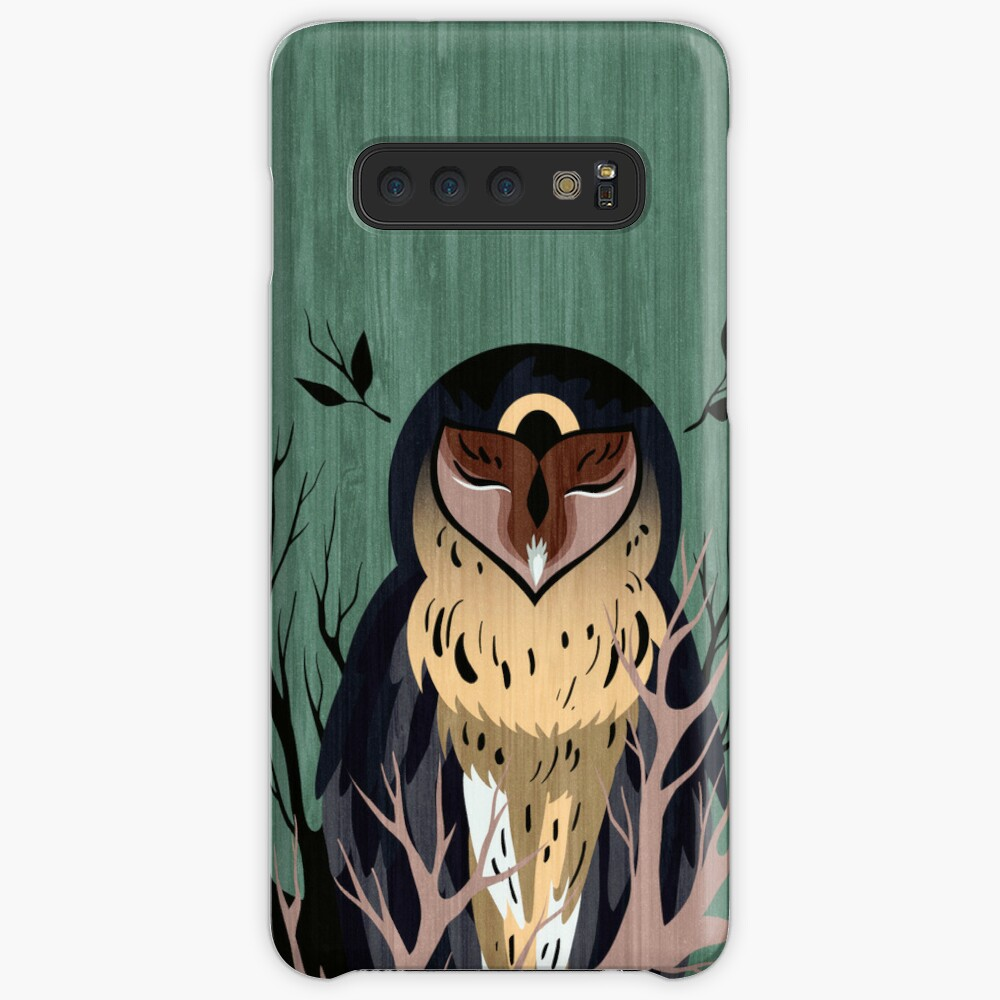 Wooden Owl Case & Skin for Samsung Galaxy