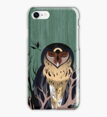 Wooden Owl iPhone Case/Skin
