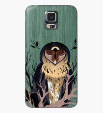Funda/vinilo para Samsung Galaxy Búho de madera