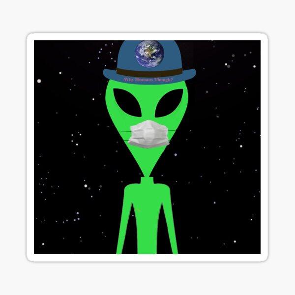 Hank the Alien Sticker