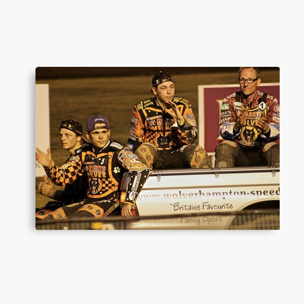 Wolves Speedway Team 4 members  Canvas Print