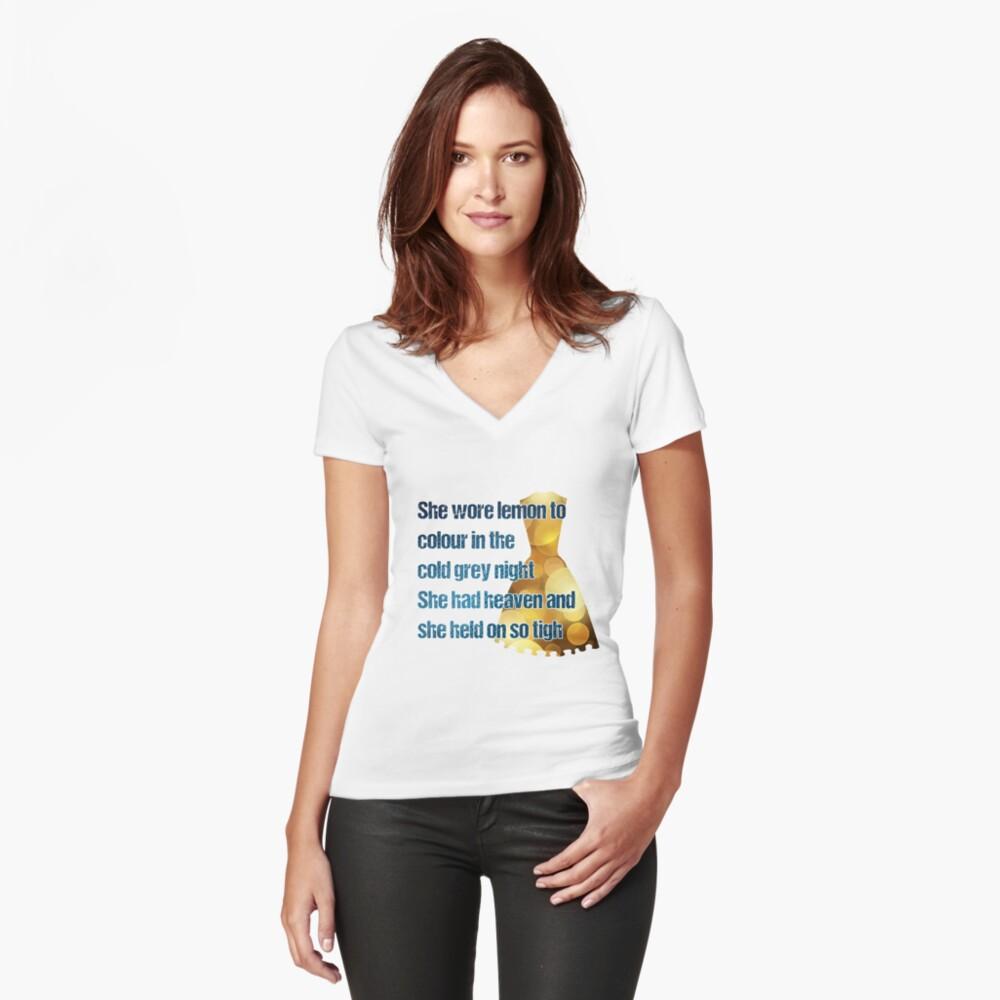 u2 lemon Fitted V-Neck T-Shirt