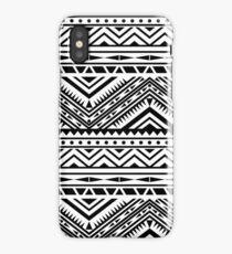 Aztec Design - Black & White iPhone Case/Skin